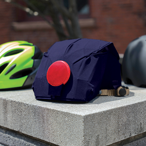 Collapsible bike helmet